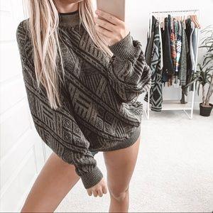 Vintage Oversized Slouchy Grandpa Crew Sweater